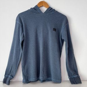 HP! Billabong Waffle Hooded Pull Over Boys Size L